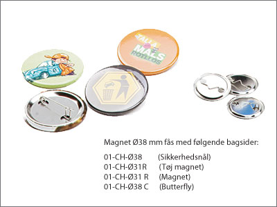 Badges 38 mm