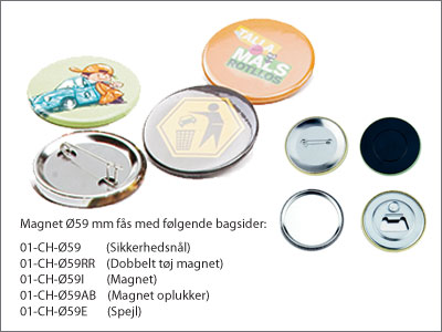Badges 59 mm